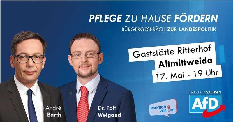 Bürgergespräch zur Landespolitik, Andre Barth, Dr. Rolf Weigand